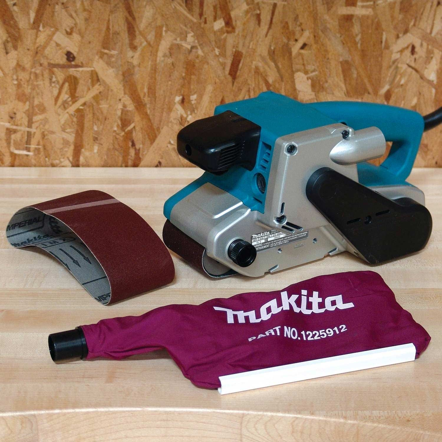 Makita 8.8 Amp 3-Inch-by-21-Inch Variable Speed Belt Sander with Cloth Dust Bag