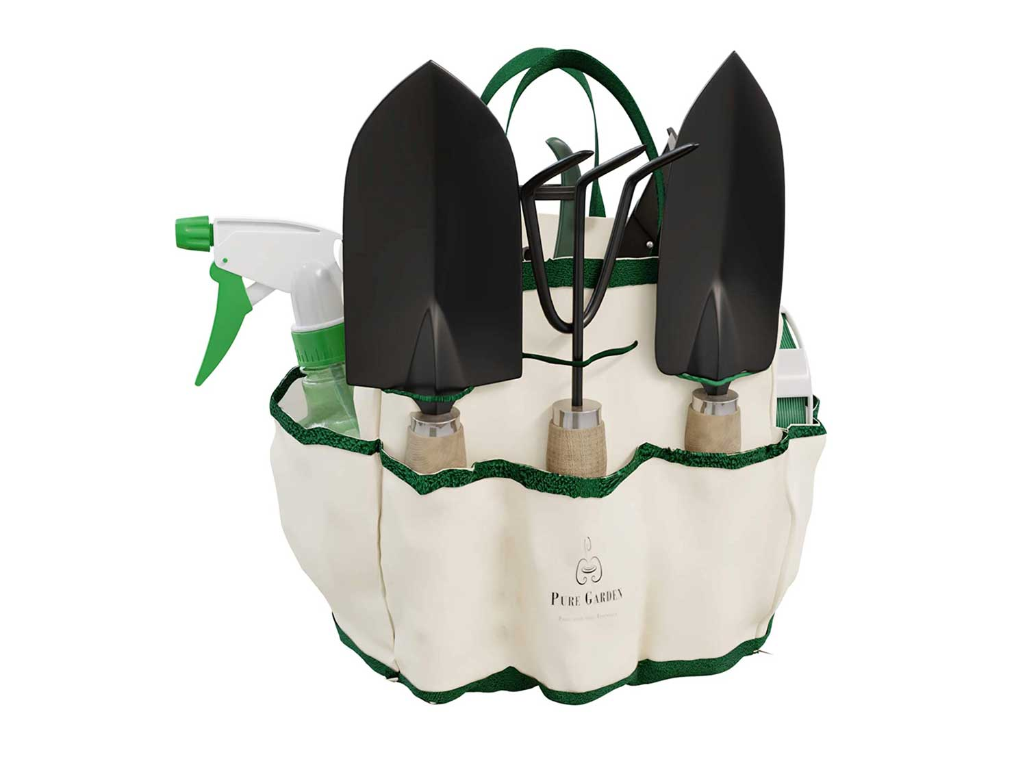 Pure Garden 75-08002 8 Piece Garden Tool and Tote Set Repel-pesticides