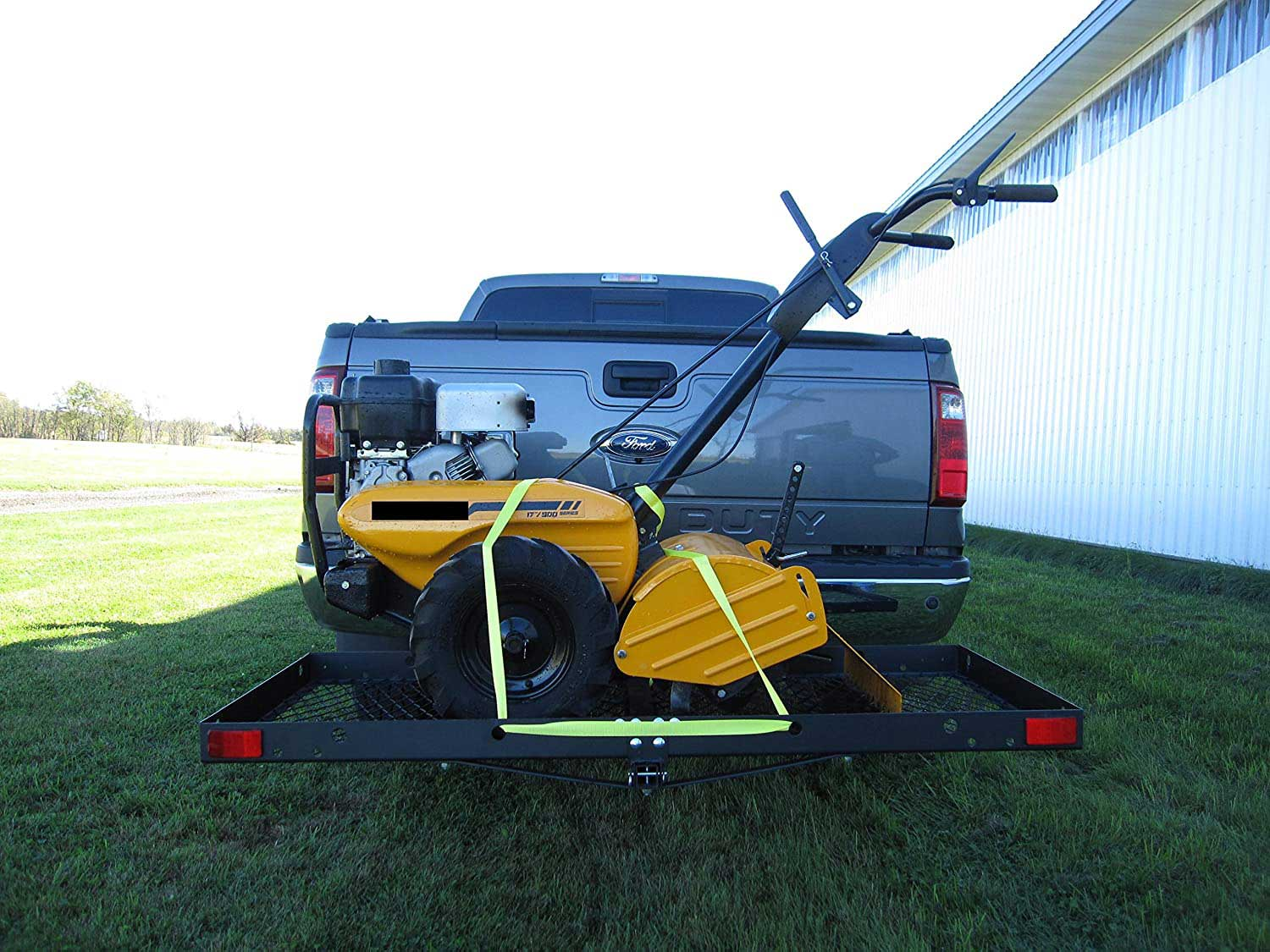 cargo carrier added to hitch of truck
