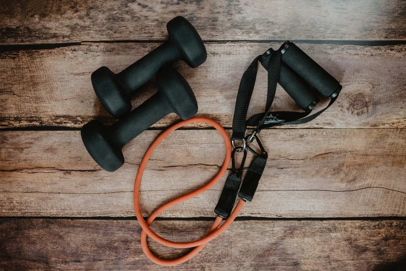 Resistance bands and weights