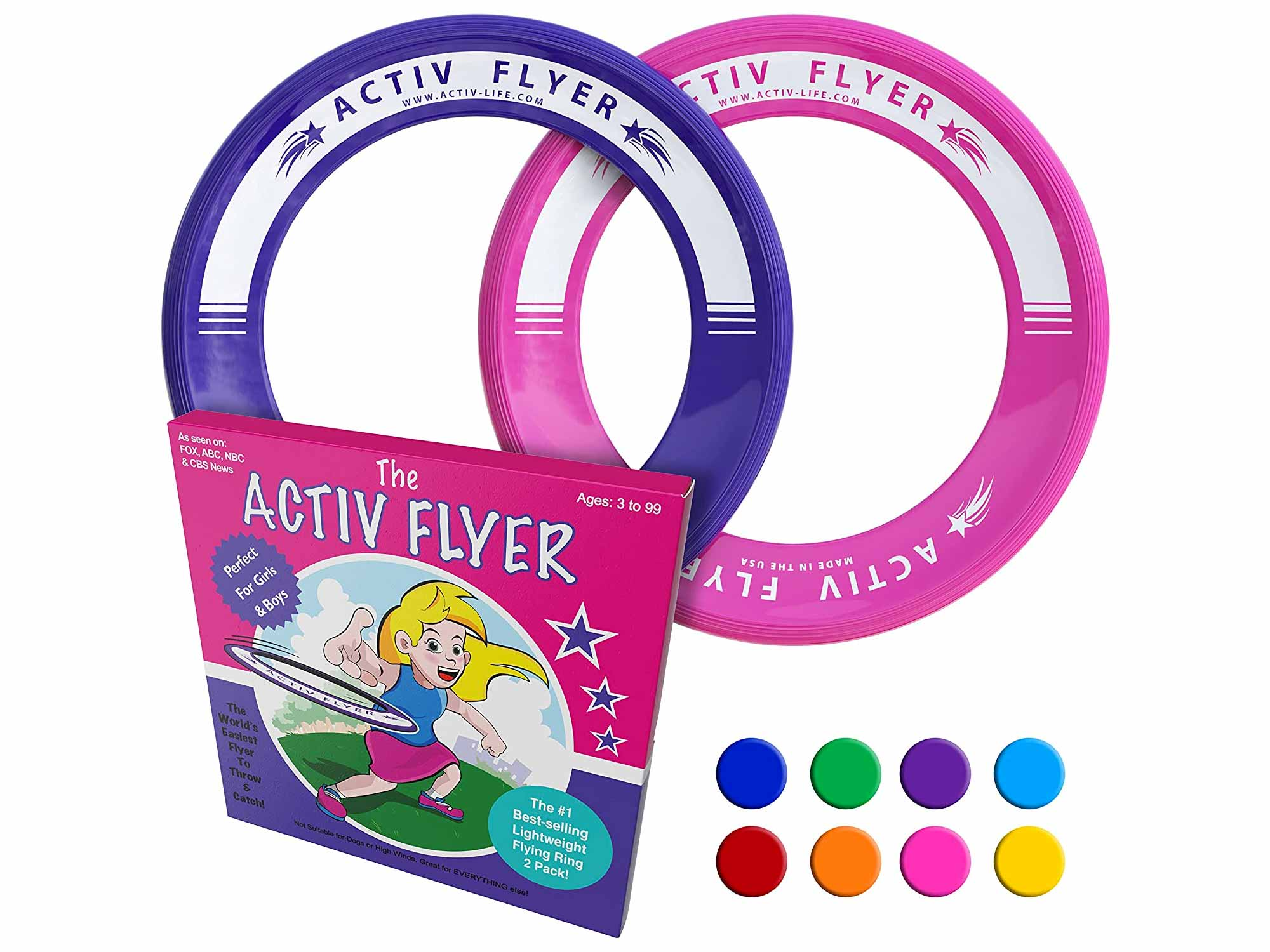 Activ Life Kid's Flying Rings [2 Pack] Fly Straight & Don't Hurt