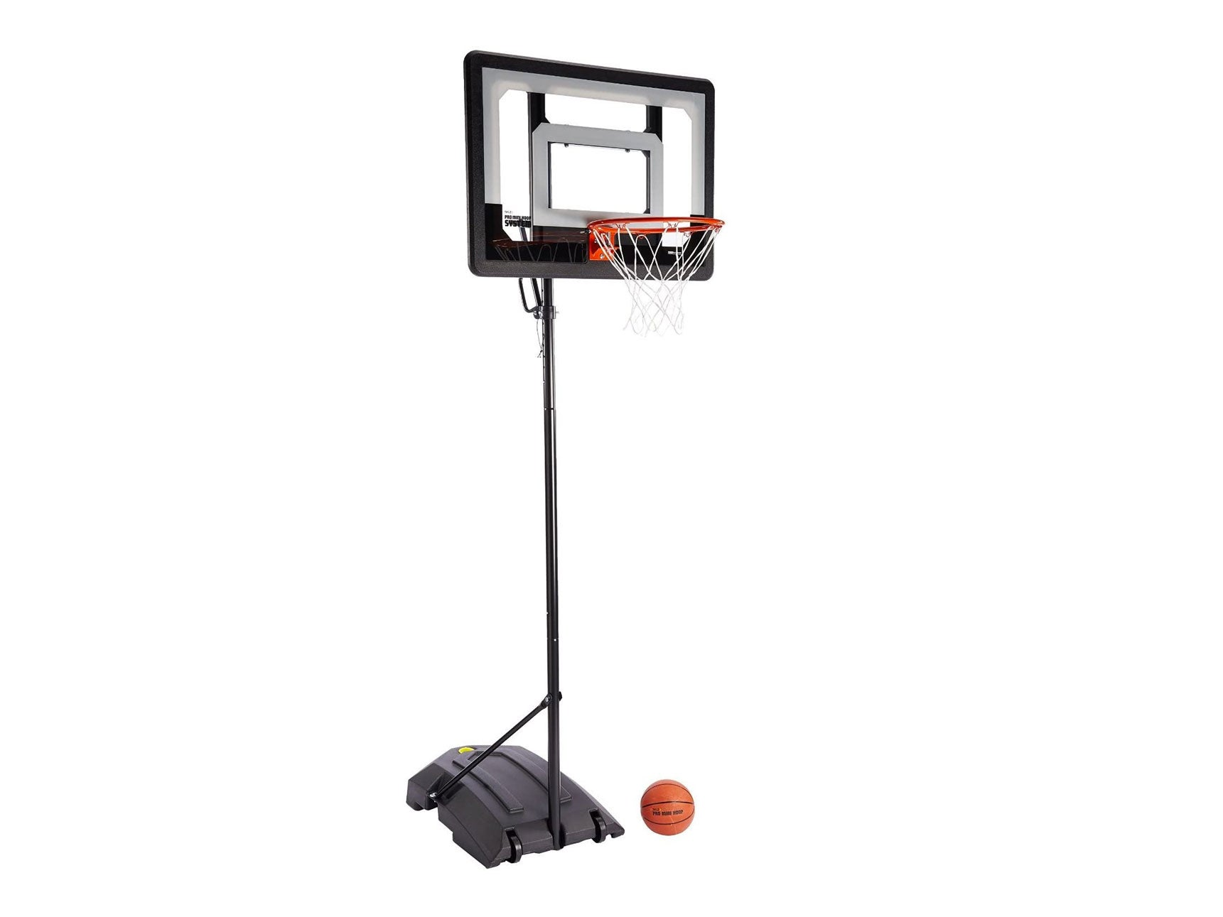 SKLZ Pro Mini Hoop Basketball System with Adjustable-Height Pole and 7-Inch Ball