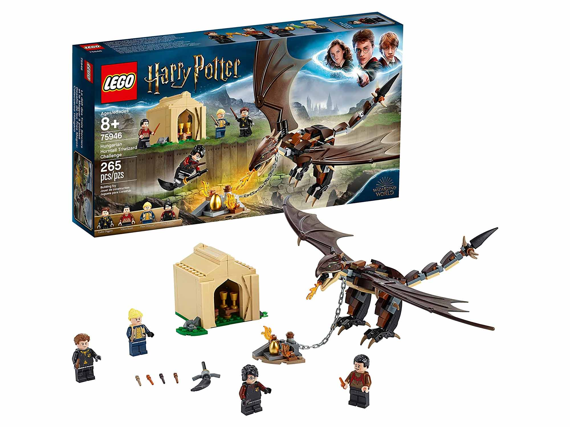LEGO Harry Potter and The Goblet of Fire Hungarian Horntail Triwizard Challenge Building Kit