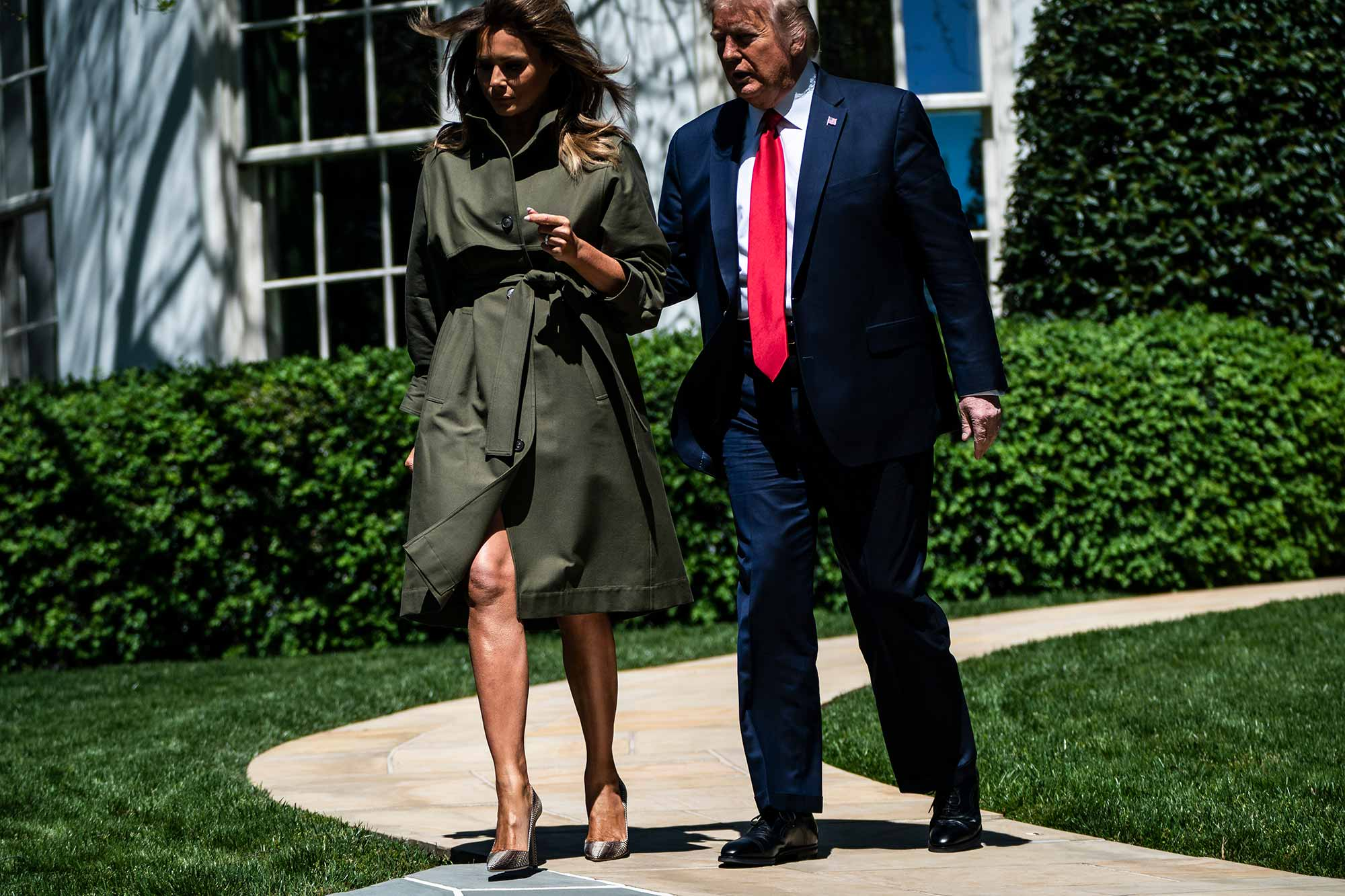 Melania and Donald Trump a few days before her 50th birthday.