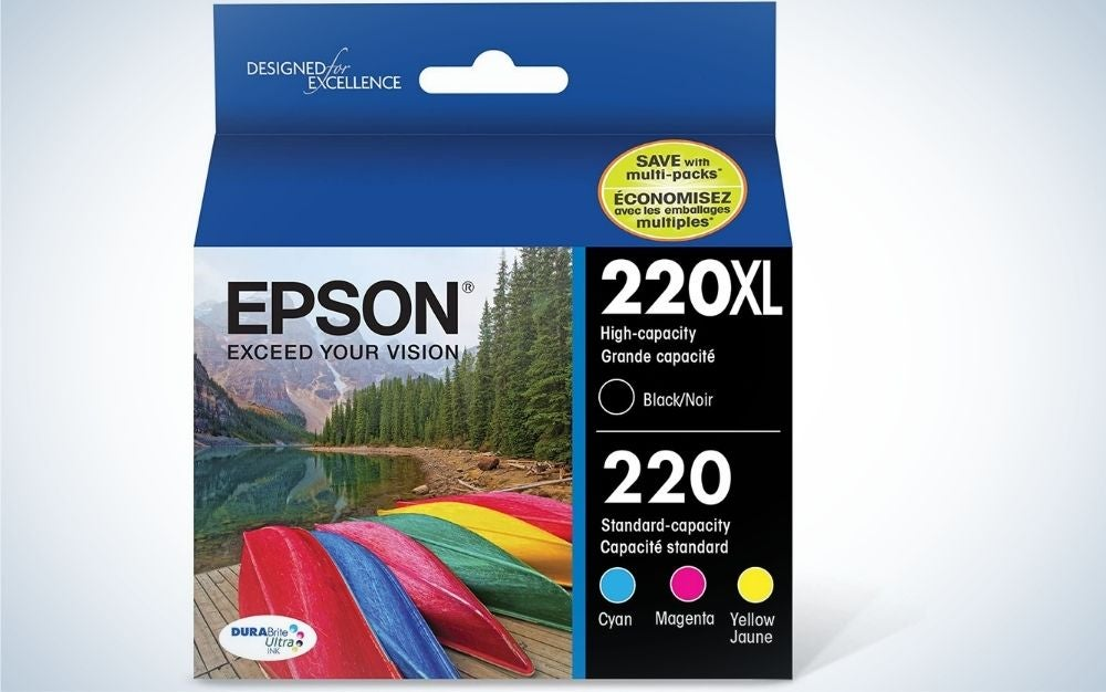 Epson T220 DURABrite Black & Standard Color Cartridge Combo Pack is best for photos.