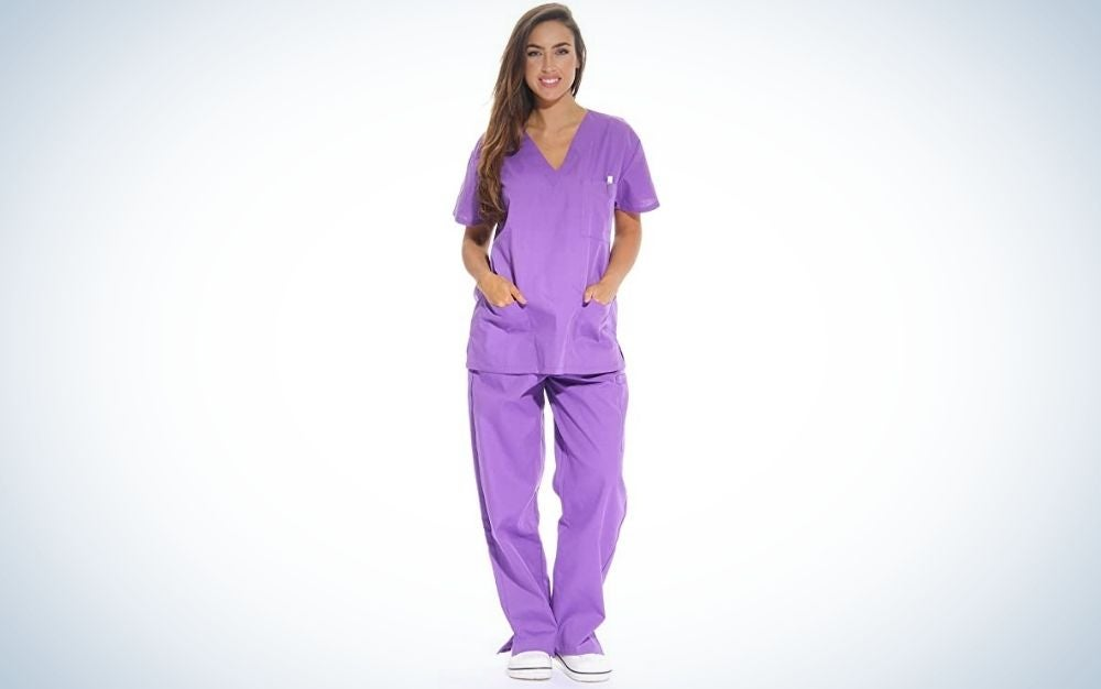 Just Love Women's Scrub Sets are the best value.