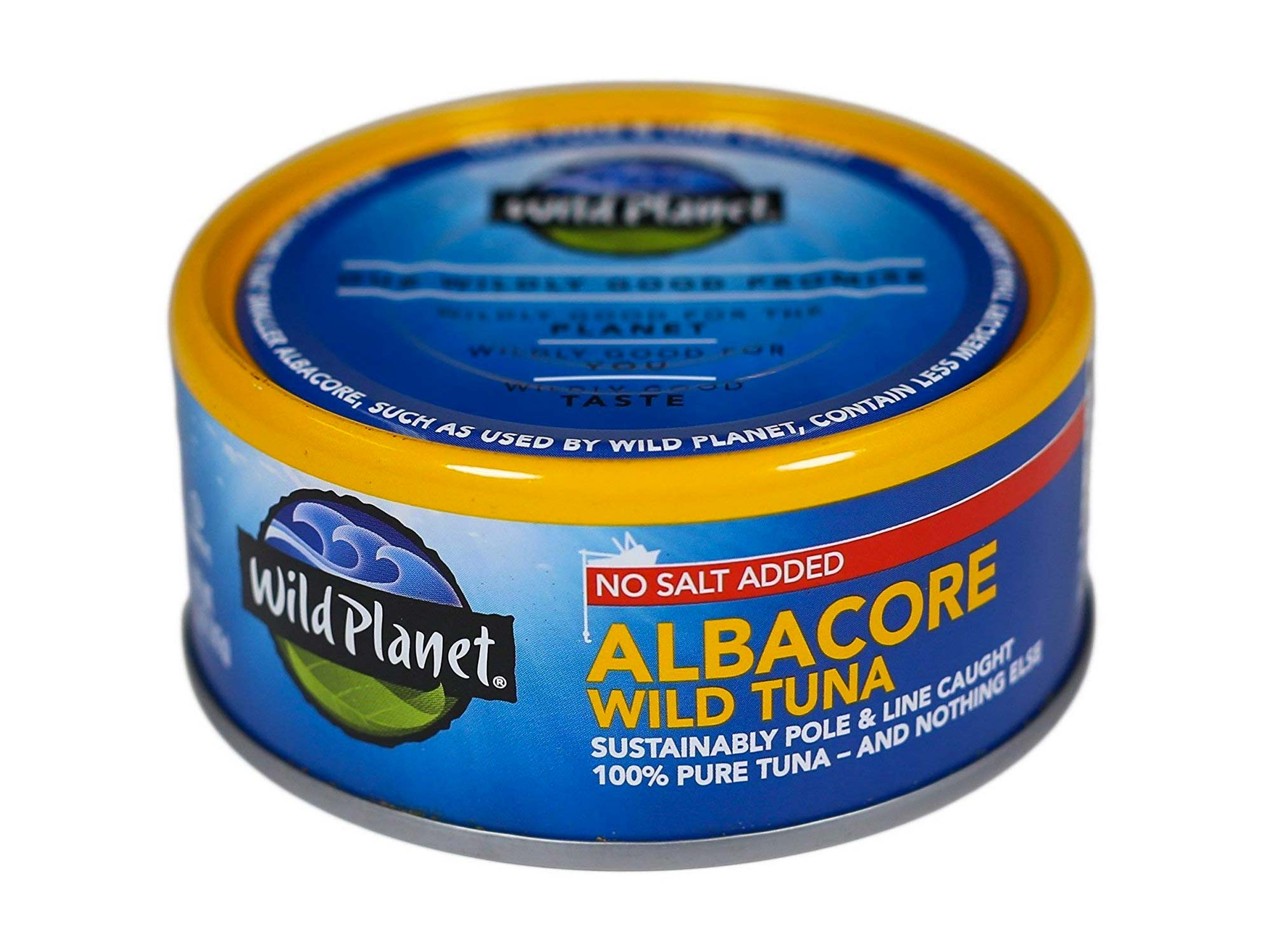 Wild Planet Wild Albacore Tuna, No Salt Added, Keto and Paleo
