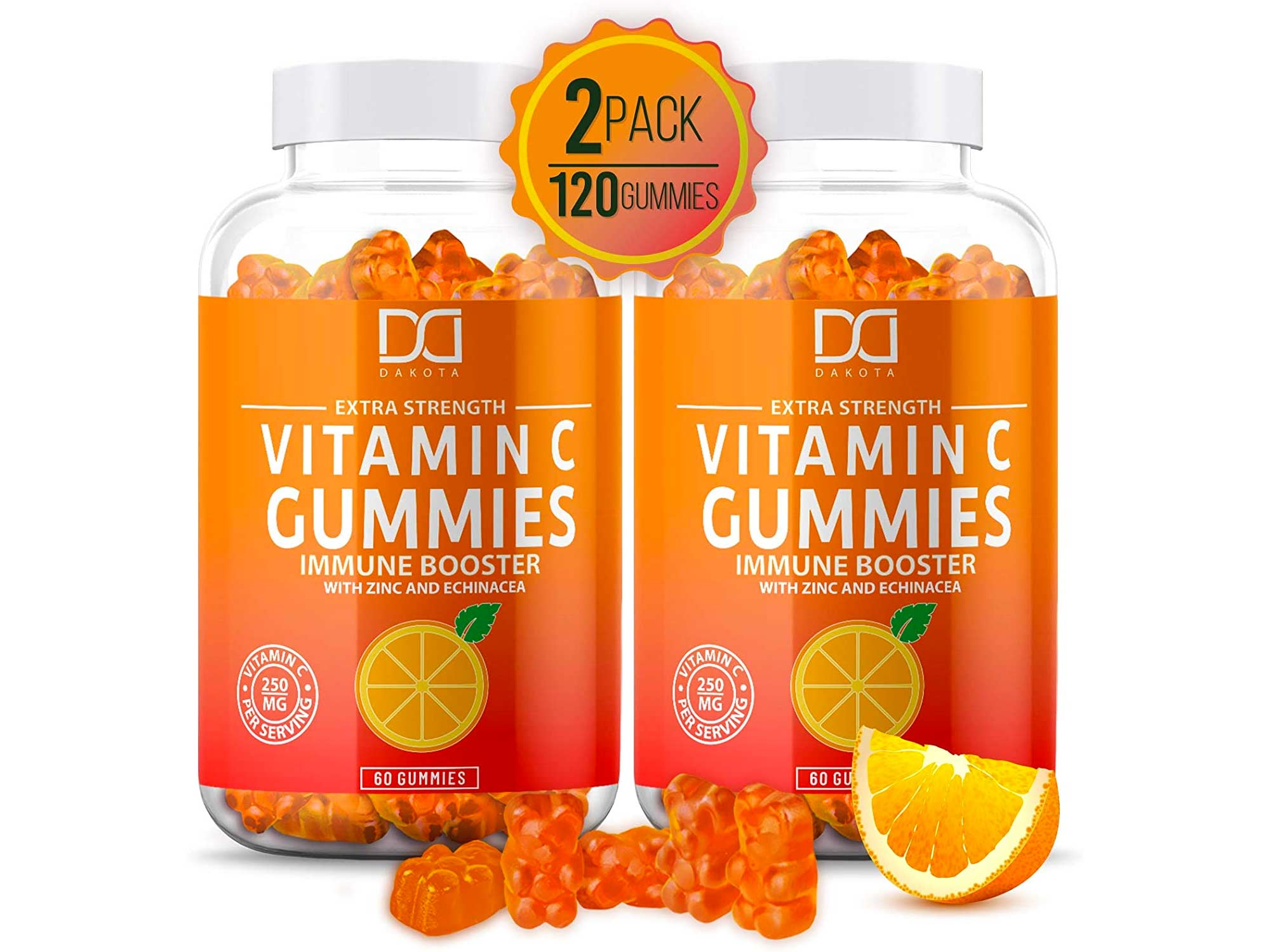 Vitamin C Gummies with Zinc for Immune Support Booster Supplement for Adults Kids, Immunity Support System
