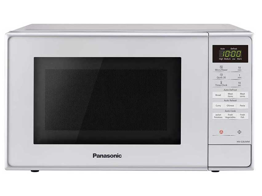 Panasonic NN-E28JMMBPQ Compact Solo Microwave Oven with Turntable, 20 Liters, White