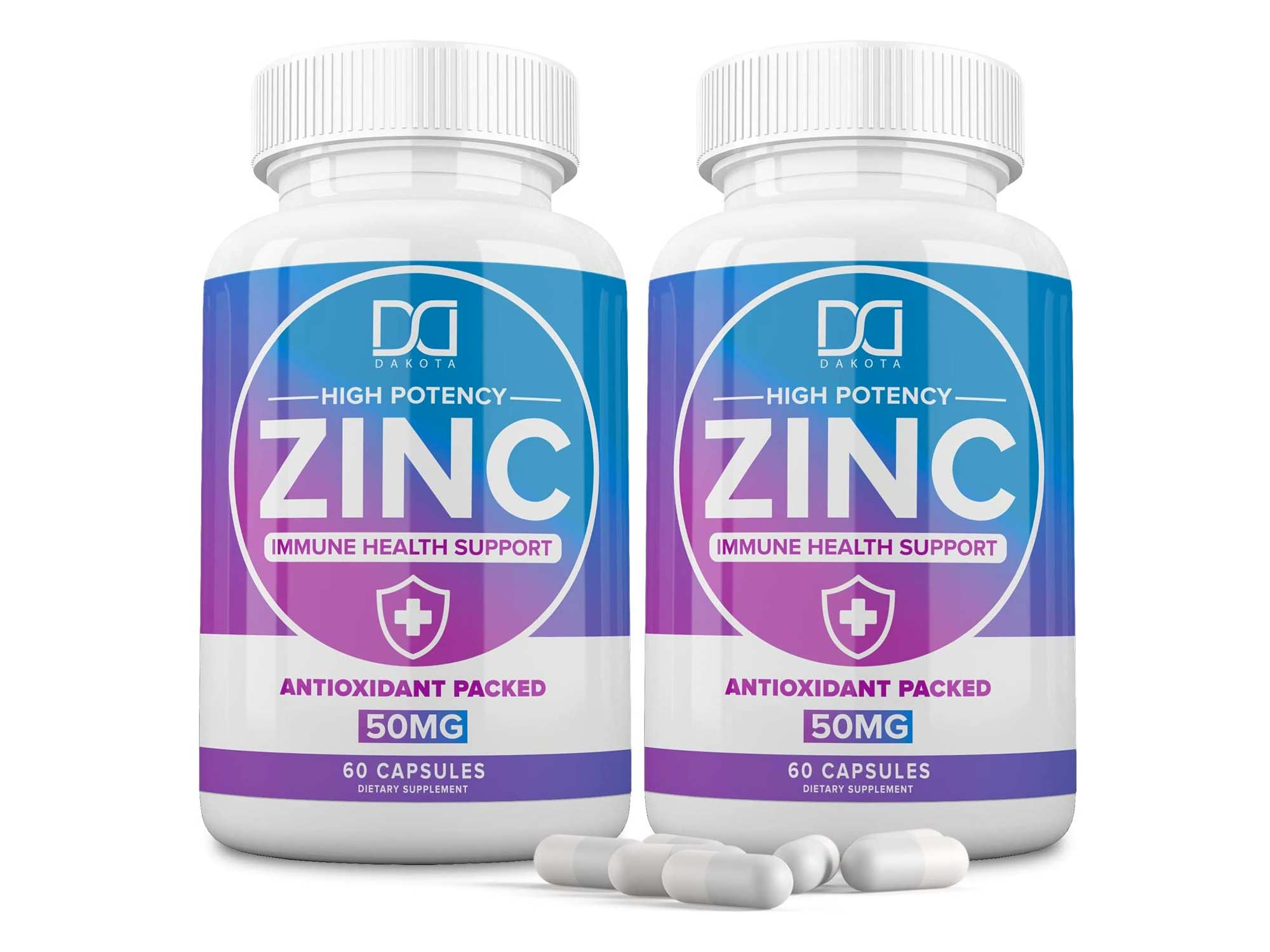 Zinc 50mg Vitamin Supplements for Immune Support System, Zinc Picolinate for Adults Kids