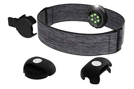 Polar OH1 Waterproof Optical Heart Rate Sensor with Swimming Goggle Strap Clip and Armband