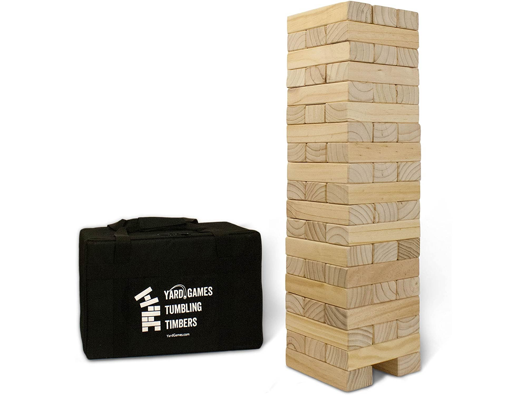 Yard Games Giant Tumbling Timbers with Carrying Case