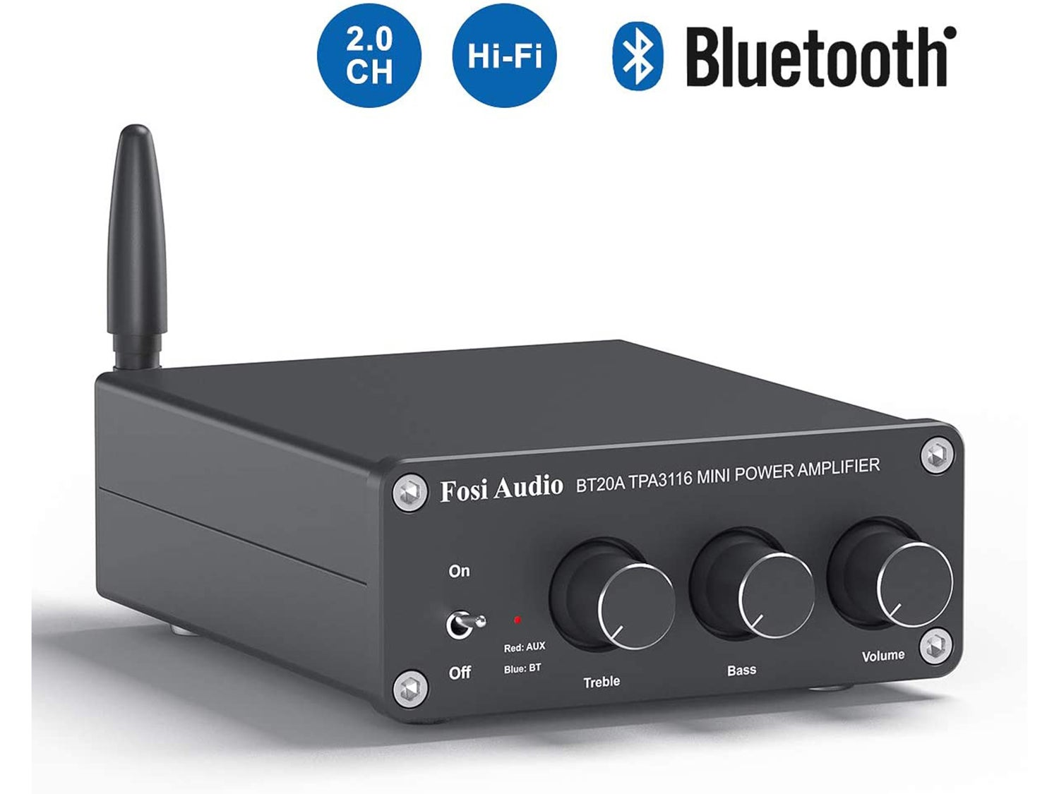 BT20A Bluetooth 4.2 Stereo Audio 2 Channel Amplifier