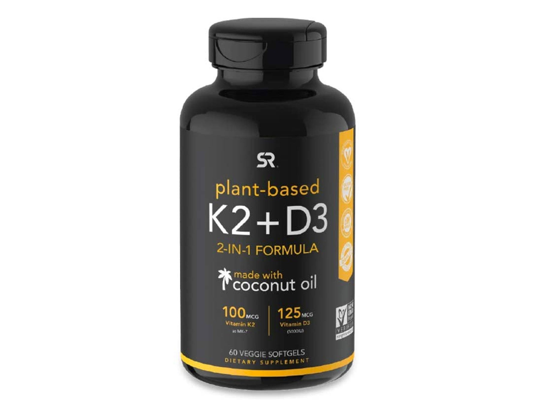 Vitamin K2 + D3 with Organic Coconut Oil for Better Absorption