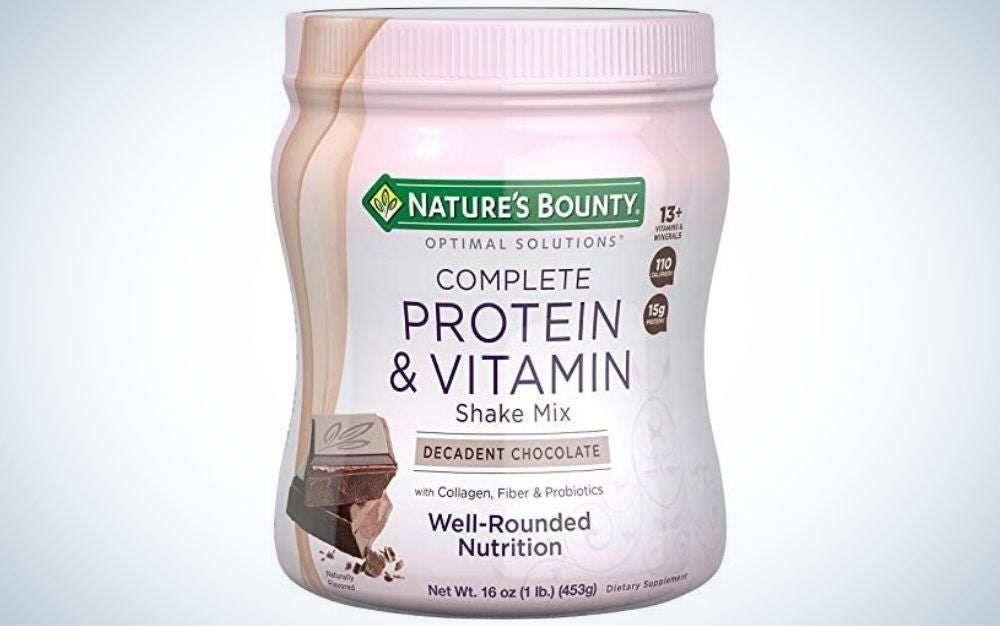 Nature's Bounty Complete Protein & Vitamin Shake Mix is the best well-rounded meal replacement shake.