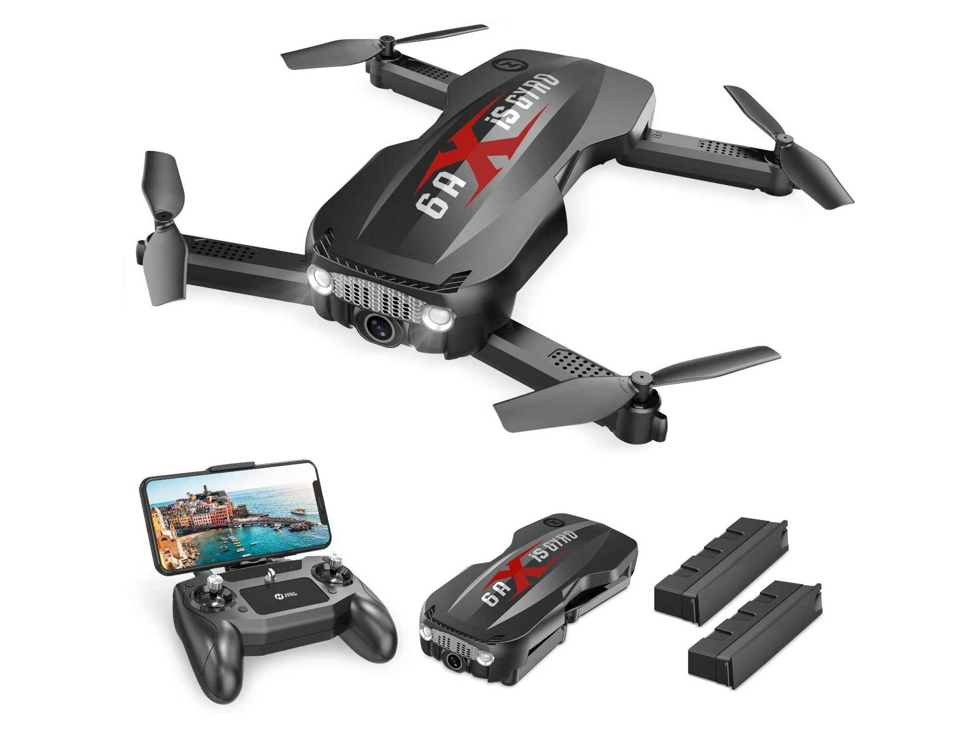 Holy Stone Pro Foldable Drone with 1080p HD WiFi Camera for Adults and Kids