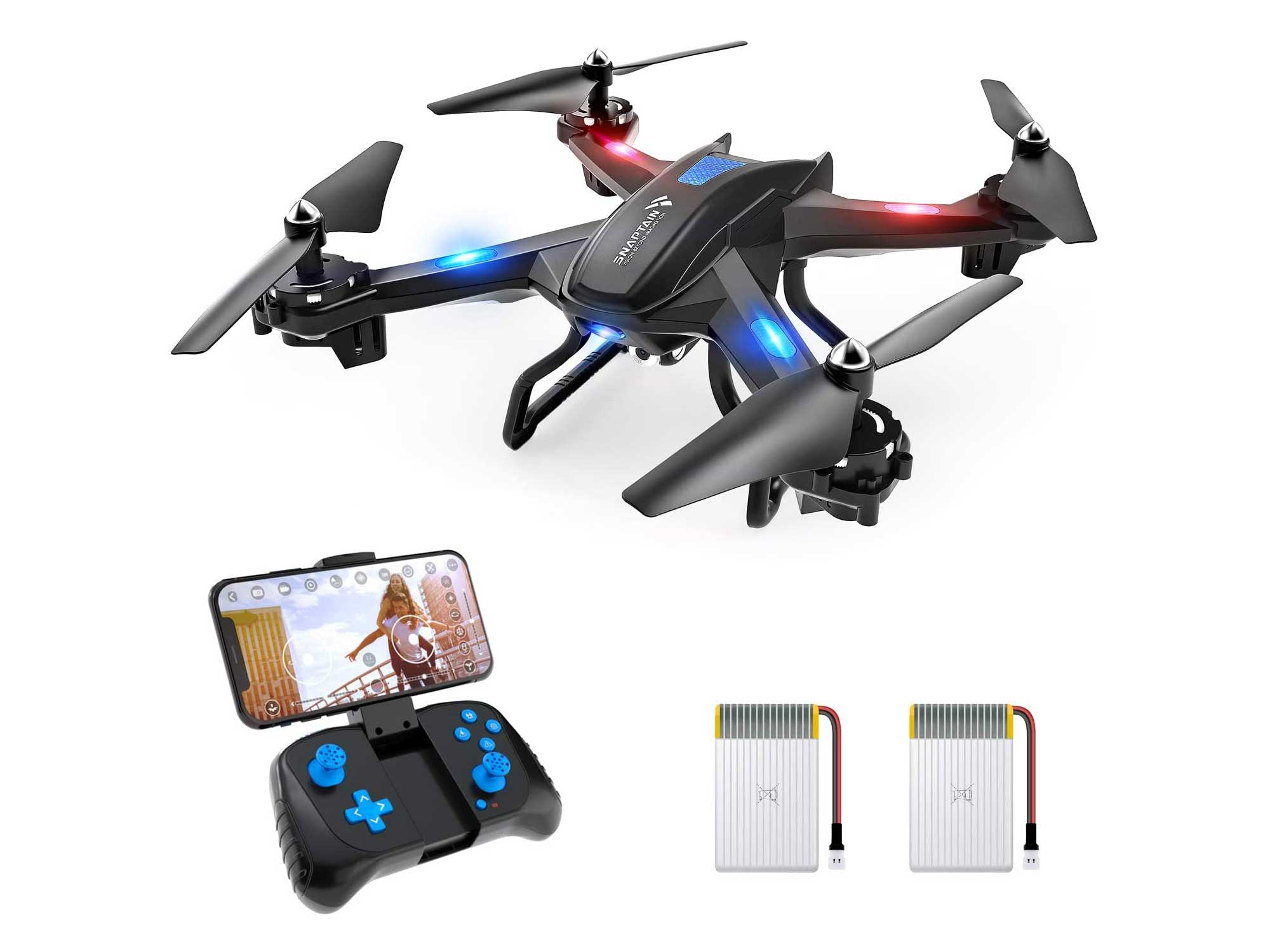 SNAPTAIN S5C WiFi FPV Drone with 720P HD Camera,Voice Control, Wide-Angle Live Video RC Quadcopter with Altitude Hold