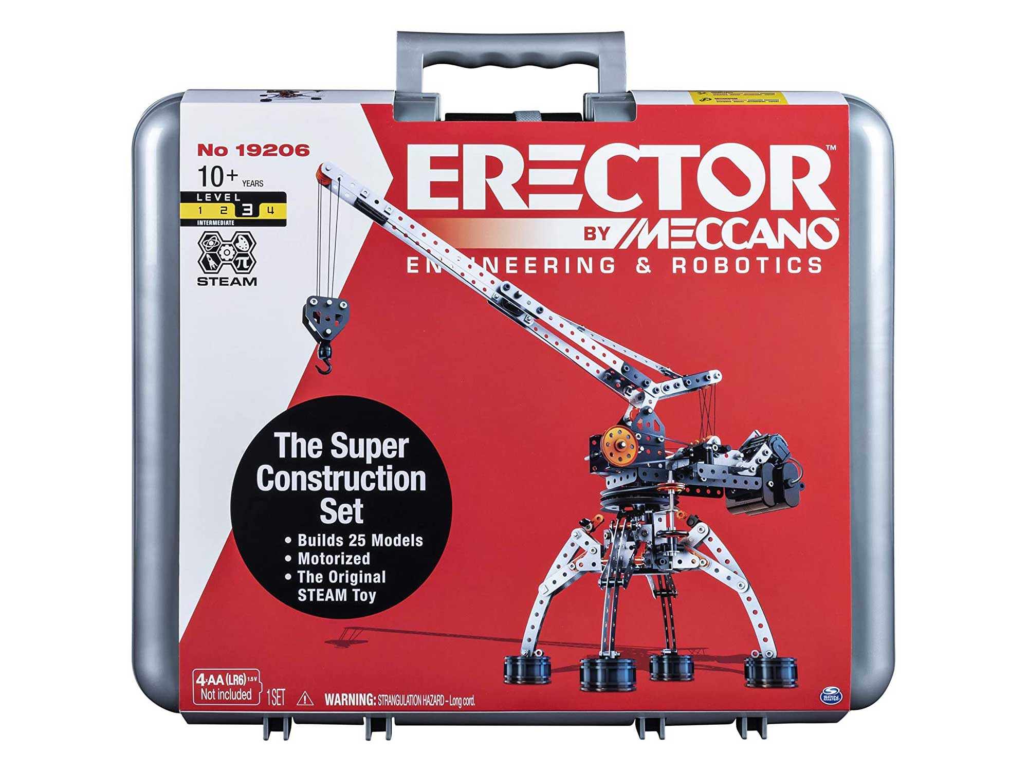 Erector by Meccano Super Construction 25-In-1 Motorized Building Set, Steam Education Toy