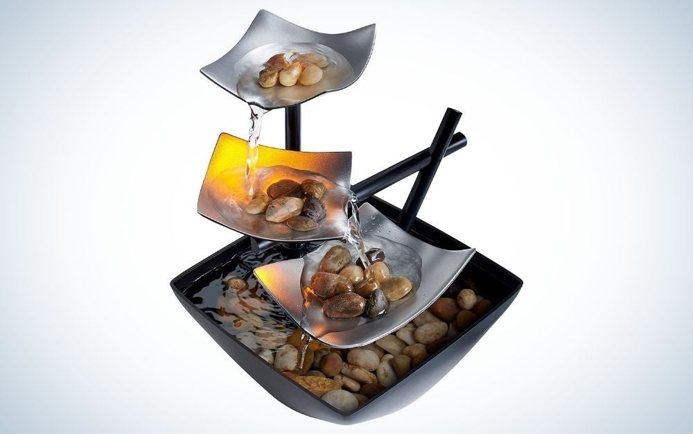 The HoMedics Indoor 3-Tier Relaxation Tabletop Fountain is the best value.