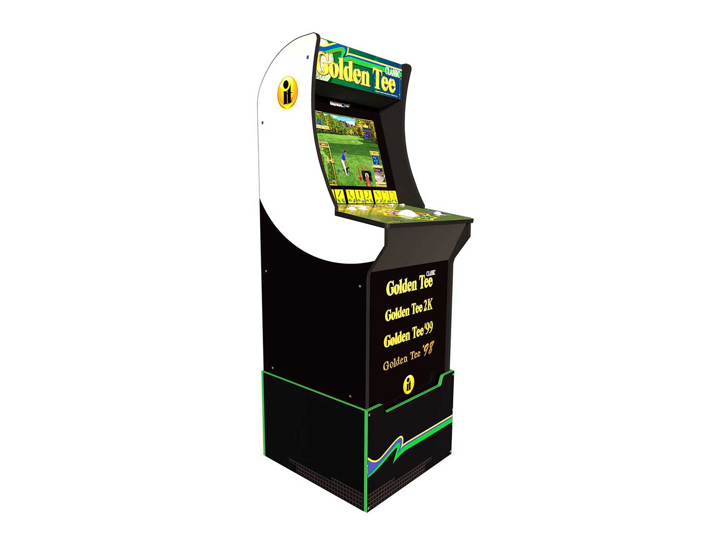 Arcade 1Up Golden Tee Classic Arcade with Riser