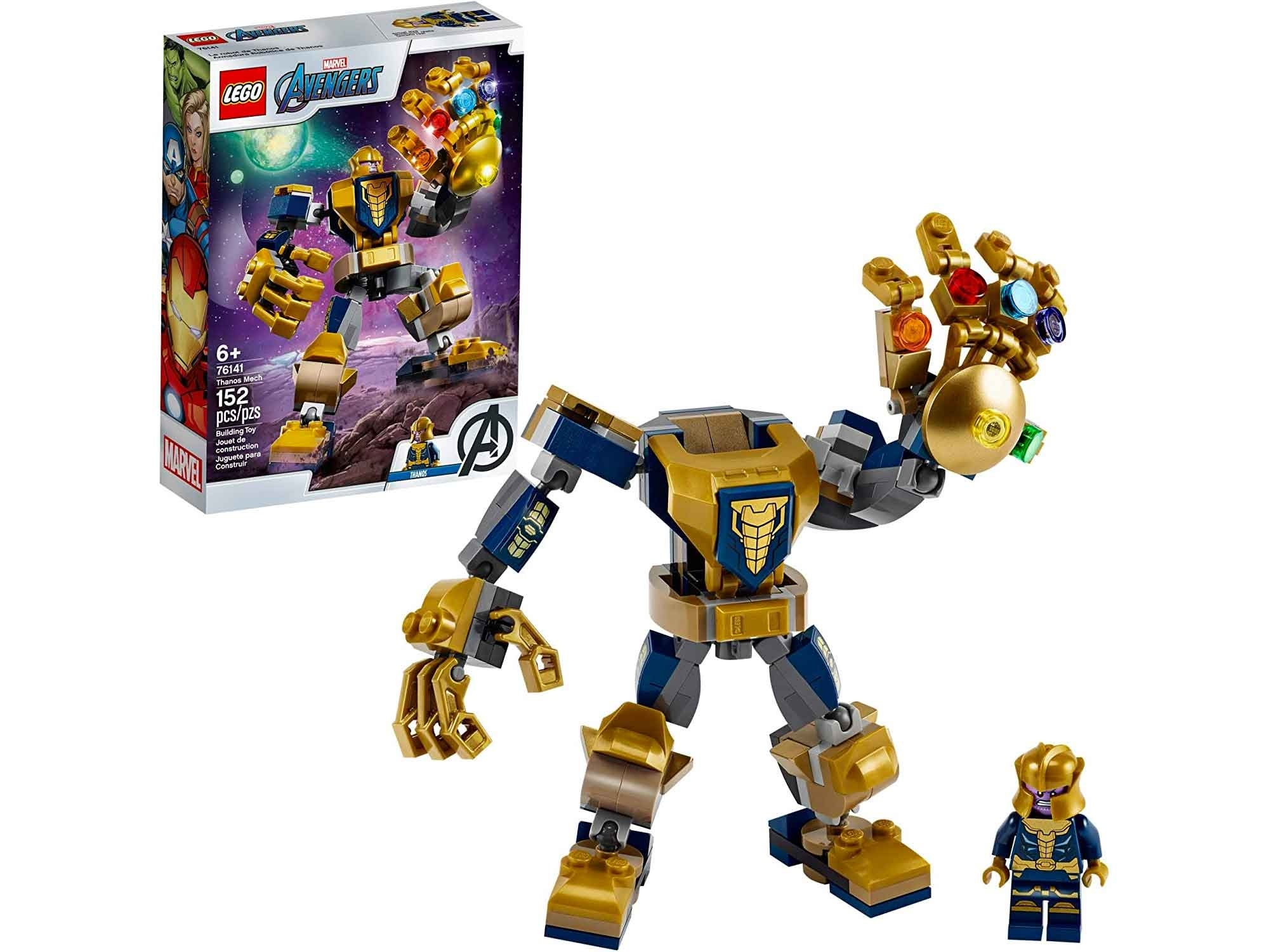 LEGO Marvel Avengers Thanos Mech Cool Action Building Toy for Kids with Mech Figure Thanos Minifigure