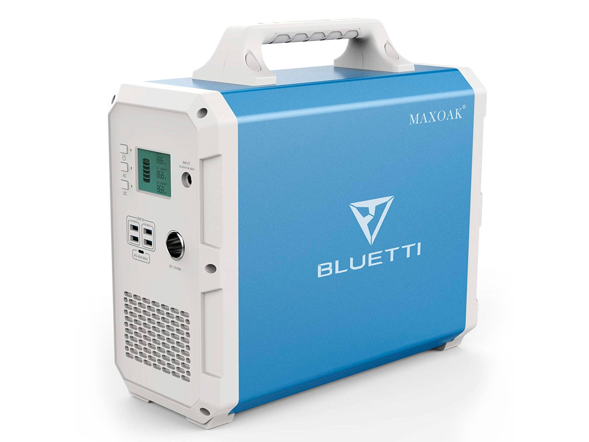 MAXOAK Portable Power Station BLUETTI 1500Wh AC110V/1000W Camping Solar Generator Lithium Emergency Battery Backup with 2 AC outlet Pure Sinewave