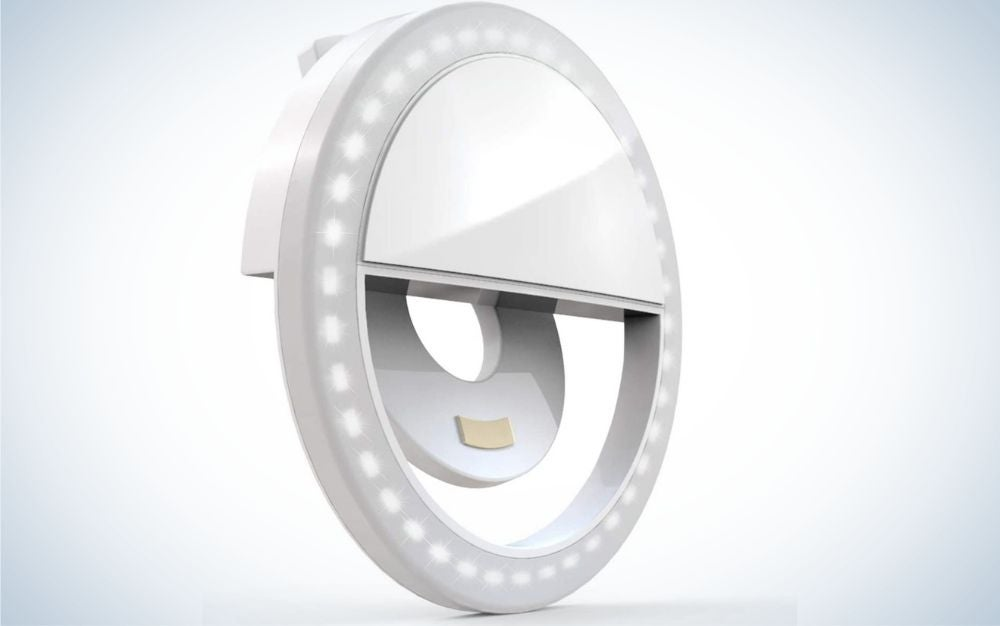 Auxiwa Clip-On Selfie Ring Light is the best ultra-portable.