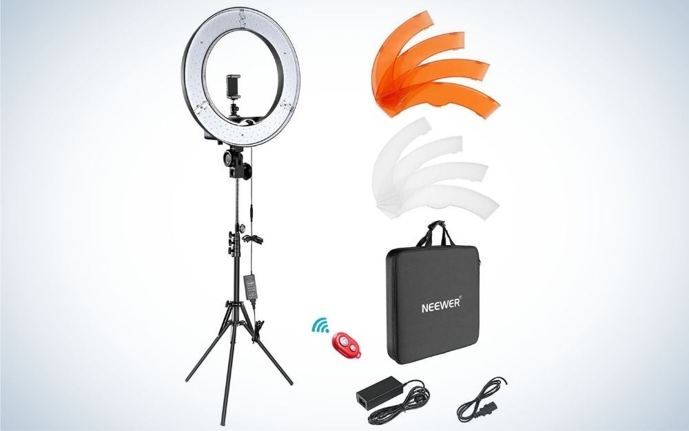 """The Neewer Ring Light Kit 18"""" is the best overall."""