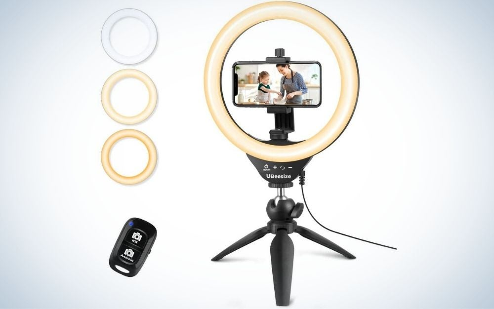 """UBeesize 10"""" Selfie Ring Light with Tripod Stand and Cell Phone Holder is the best value."""