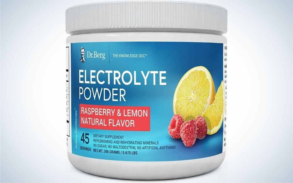 Dr. Berg's Original Electrolyte Powder is the best overall.