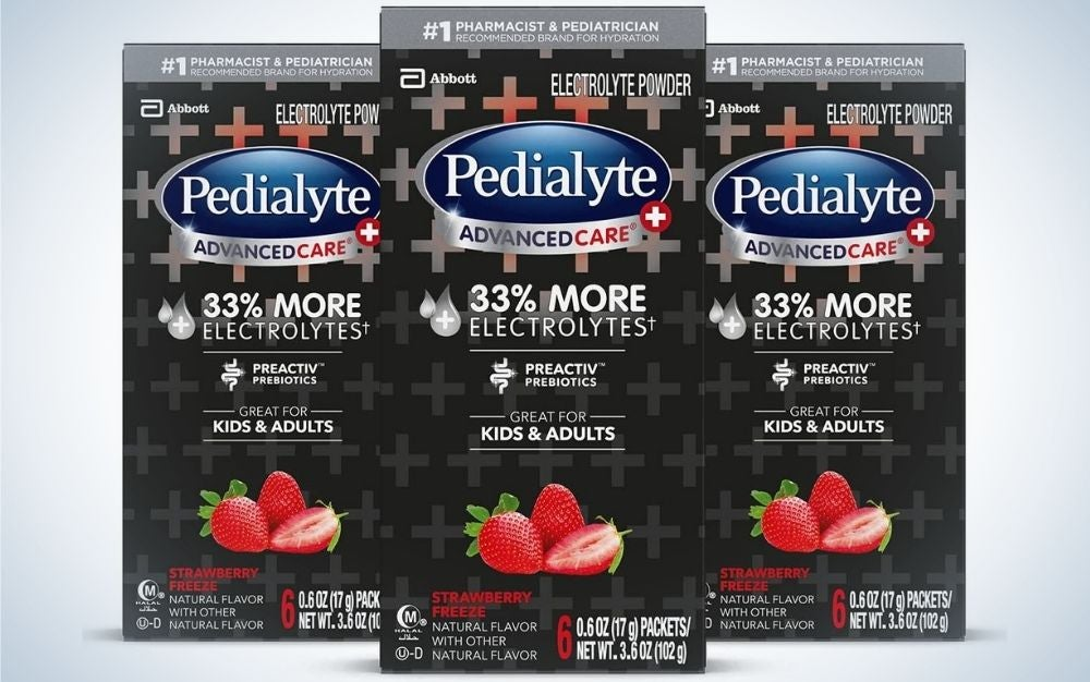 Pedialyte AdvancedCare Plus Electrolyte Powder is the best for kids.
