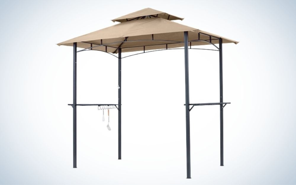 The MasterCanopy Grill Gazebo is the best canopy among the best outdoor kitchen accessories.