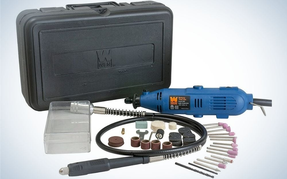 The WEN 2305 Rotary Tool Kit is the best value.