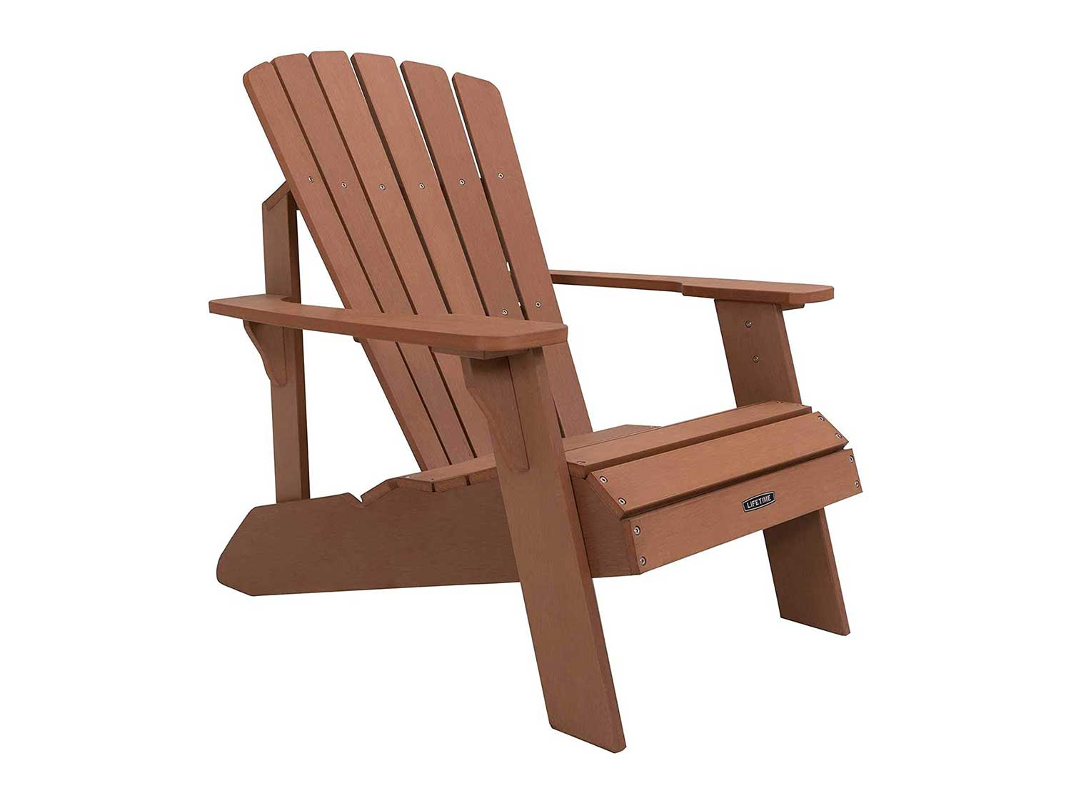 Lifetime Faux Wood Adirondack Chair, Brown
