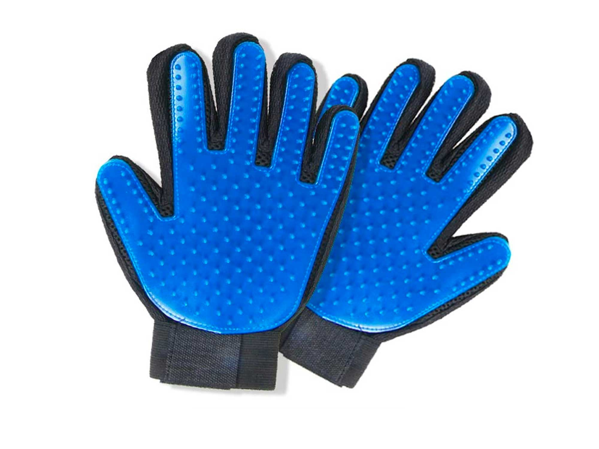 STARROAD-TIM Pet Grooming Glove Hair Remover Brush Gentle Deshedding Efficient Pet Mitt Pet Massage Gloves Left & Right Hand Draw Dogs Cats Horses Long Short Fur (1Pair Left & Right Hand