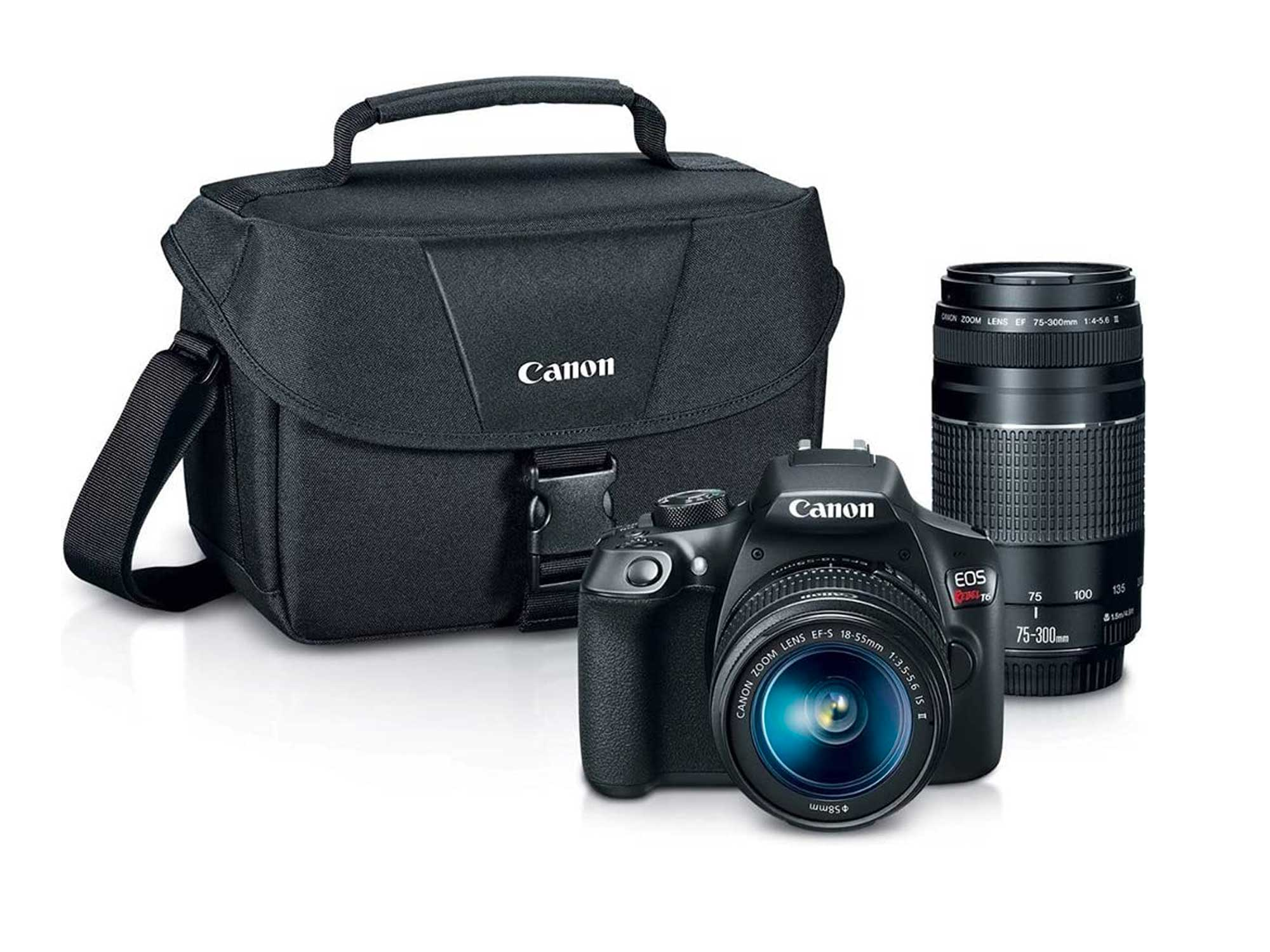 Canon Digital SLR Camera Kit [EOS Rebel T6] with EF-S 18-55mm and EF 75-300mm Zoom Lenses