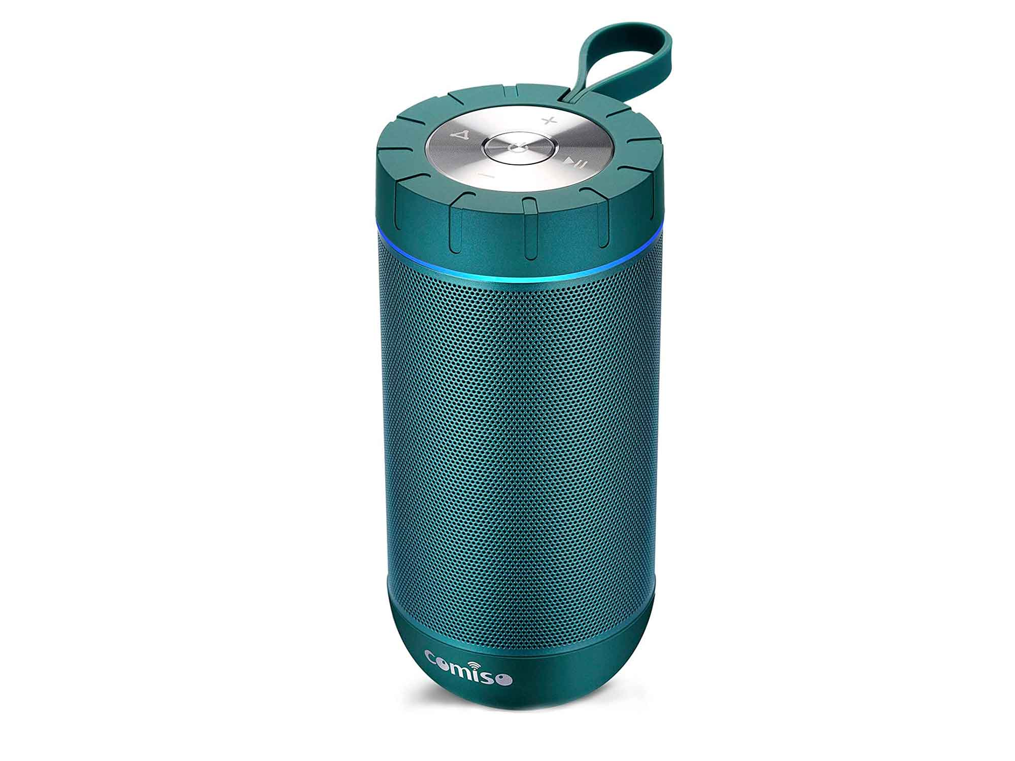 COMISO Waterproof Bluetooth Speakers Outdoor Wireless Portable Speaker with 20 Hours Playtime Superior Sound for Camping, Beach, Sports, Pool Party