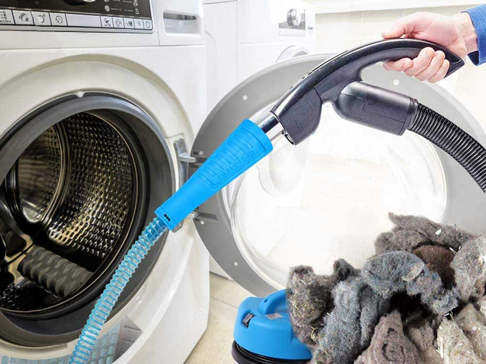 Cleaning out dryer vent with a dryer vent cleaner kit