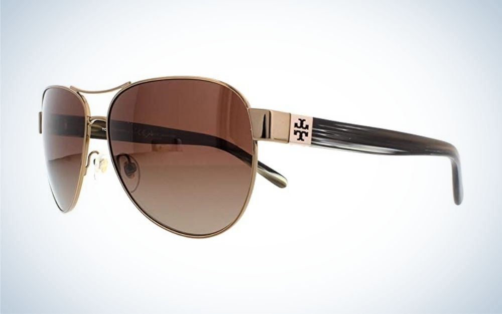 The Tory Burch Women's 0ty6051 Aviator is the best classic-look sunglasses.