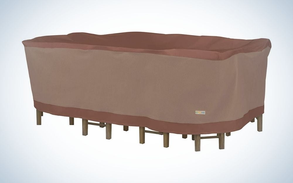 Duck Covers Ultimate Waterproof 127 Inch is the best overall patio cover.