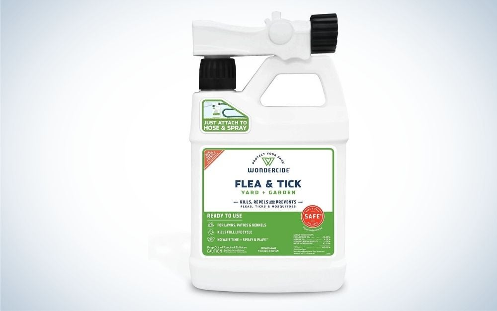 The Wondercide Ready-To-Use Flea, Tick, Mosquito is the best organic pesticide for fleas and ticks.