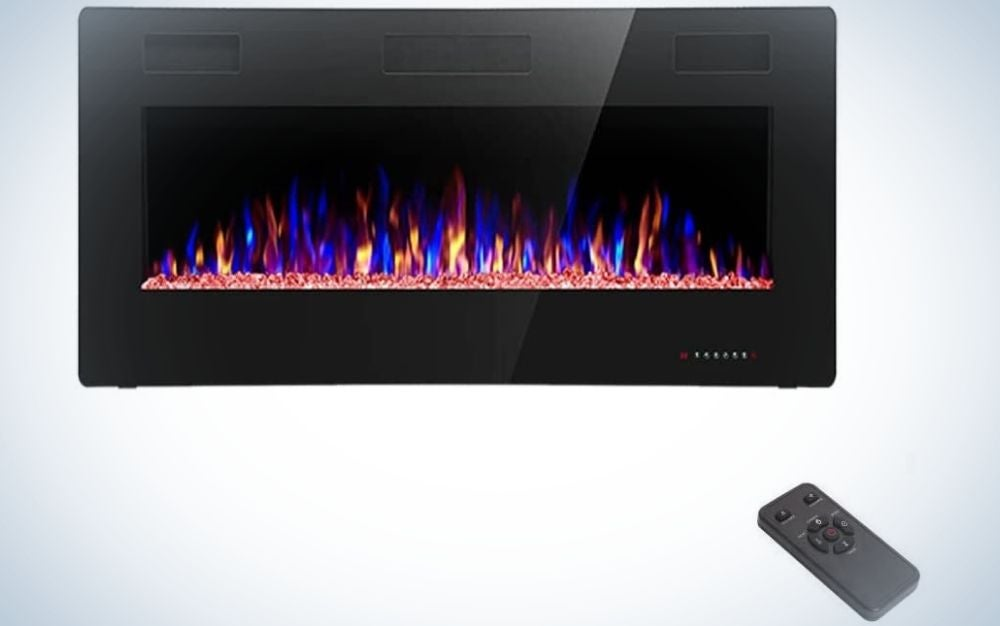 The R.W. Flame Recessed and Wall Mounted Electric Fireplace is the best energy saver.