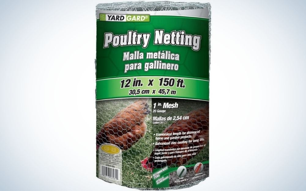 The YARDGARD Mesh Poultry Netting is best for chickens.