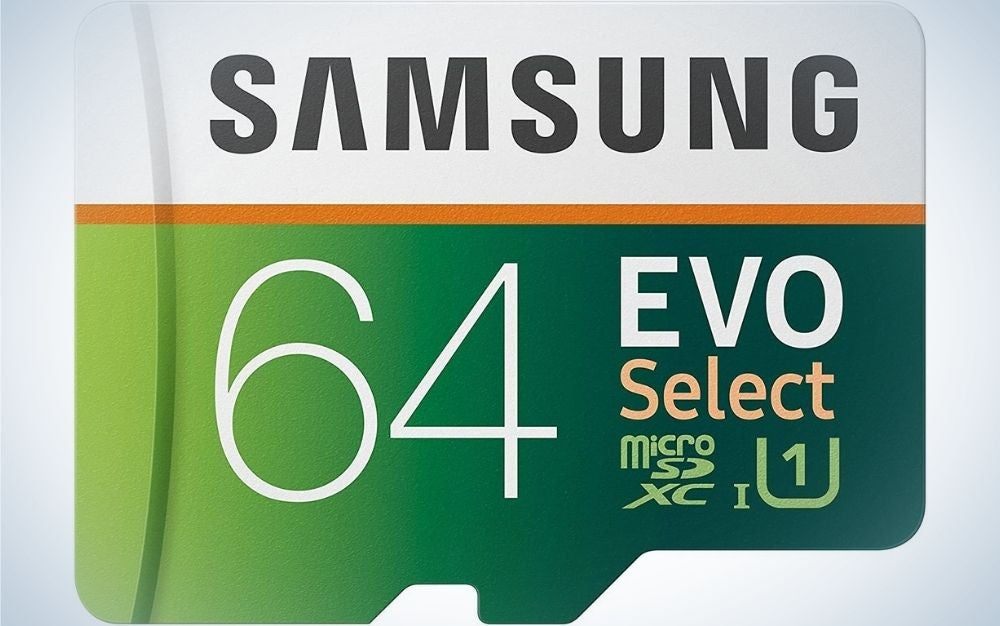 The Samsung EVO Select 128GB is the best micro SD card for GoPro cameras.