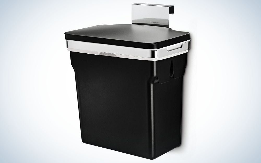 The simplehuman 10 Liter/2.6 Gallon In-Cabinet Trash Can is the best in-cabinet.