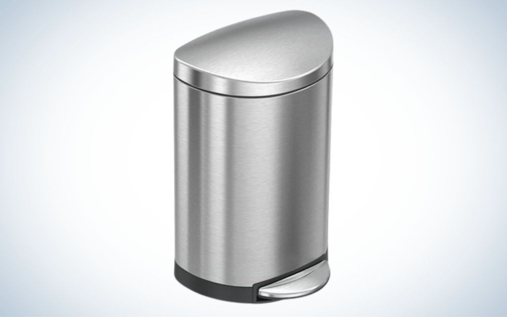 The simplehuman 6 Liter/1.6 Gallon Bathroom Step Trash Can is the best overall.
