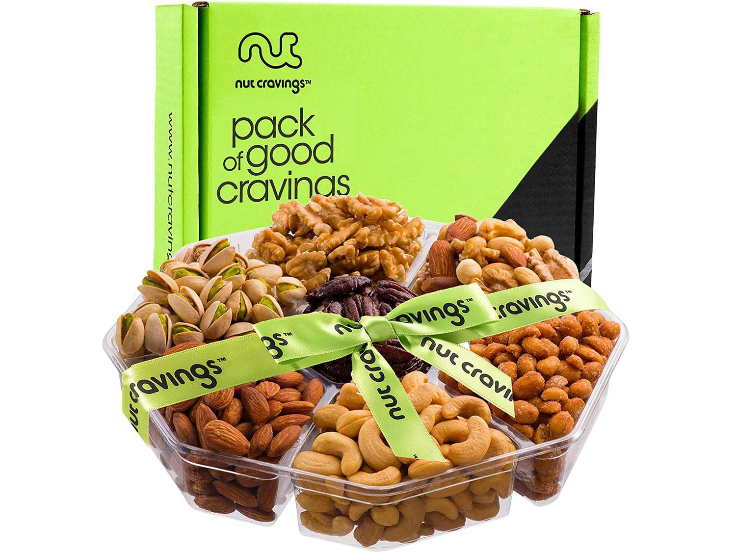 Fathers Day Gift Basket, Gourmet Nut Tray (XL 7 Mix) - Food Arrangement Platter, Birthday Edible Care Package - Healthy Snack Box for Dad, Grandpa, Husband, Women, Men, Adult, Wife - Prime Delivery