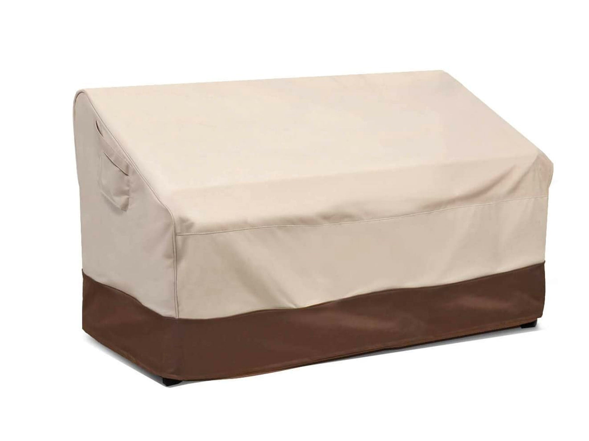Vailge Heavy Duty Deep Patio Sofa Cover,100% Waterproof Outdoor Sofa Cover, Large Lawn Patio Furniture Covers with Air Vent, Large (Deep), Beige & Brown