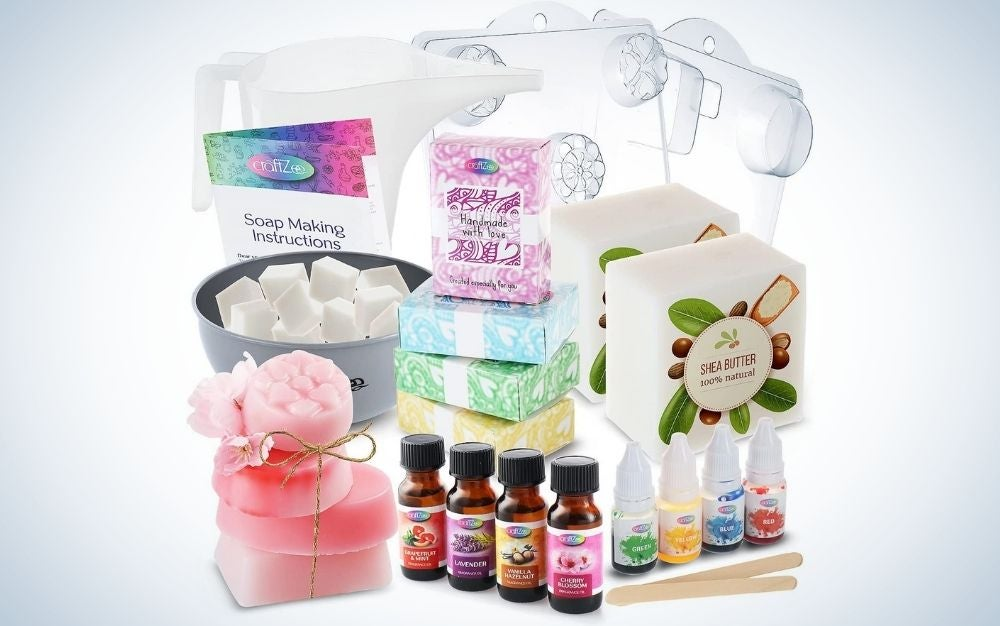 The DilaBee Soap Making Kit is the best value.