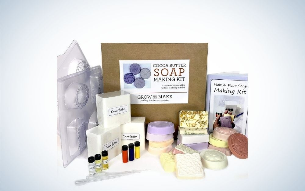 The Grow and Make DIY Cocoa Butter Soap Making Kit is the best overall.